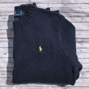 Men's Polo Ralph Lauren Navy Sweater Sz S